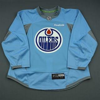 Reebok Light Blue Practice Jersey Edmonton Oilers 2013-14 Size  56 ... b6c3775463d