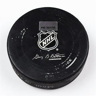 Philadelphia Flyers Game Used Puck March 31, 2013 vs the Washington