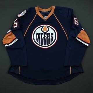 Czuy, Kelly Navy Set 1 - Game-Issued (GI) Edmonton Oilers 2008-09 #56 Size: 56