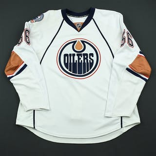 Czuy, Kelly White Set 1 - Game-Issued (GI) Edmonton Oilers 2008-09 #56 Size: 56
