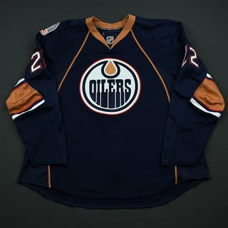 Jacques, Jean-Francois Navy Set 1 Game-Issued (GI) Edmonton Oilers