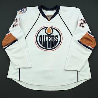 Jacques, Jean-Francois White Set 3 Edmonton Oilers 2008-09 #22 Size: 58+