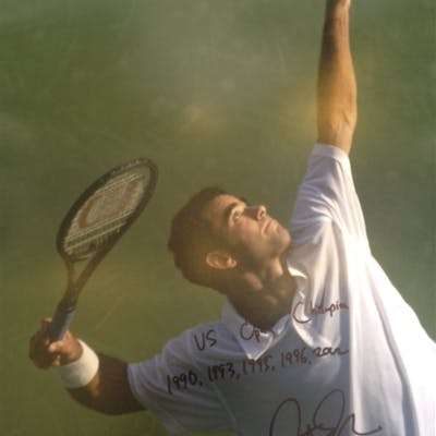 Sampras, Pete Autographed 16x20 with inscription 2012