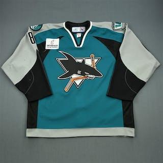 Stafford, Garrett * Teal Set 1 Worcester Sharks 2006-07 #8 Size: 56