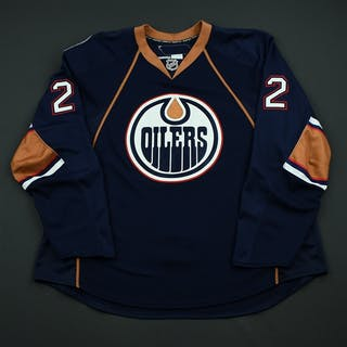 Maslonka, Milan Navy Set 1 - Game-Issued (GI) Edmonton Oilers 2008-09