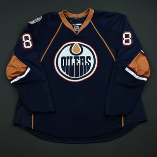 Paige, Kyle Navy Set 1 - Game-Issued (GI) Edmonton Oilers 2008-09 #8 Size: 58