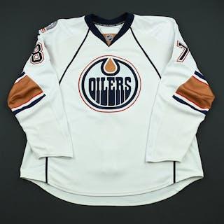 Pisano, Anthony White Set 1 - Game-Issued (GI) Edmonton Oilers 2008-09