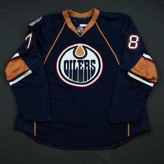 Pouliot, Marc Navy Set 3 Edmonton Oilers 2008-09 #78 Size: 56