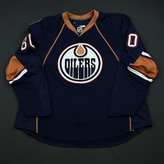 Sagert, Kalvin Navy Set 1 - Game-Issued (GI) Edmonton Oilers 2008-09