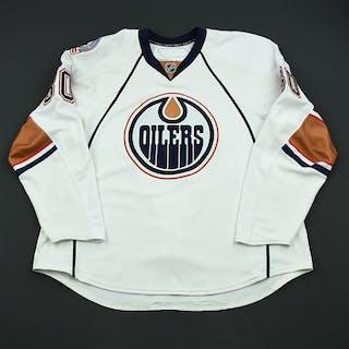 Sagert, Kalvin White Set 1 - Game-Issued (GI) Edmonton Oilers 2008-09