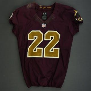 Royster, Evan Burgundy and Gold Throwback Washington Redskins 2012 #22 Size:44