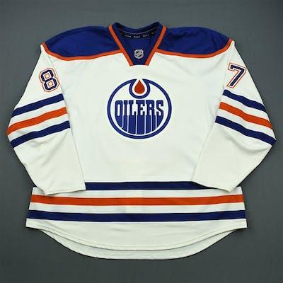 Musil, David White Retro Set 1 - Game-Issued (GI) Edmonton Oilers