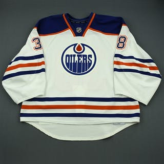 Roy, Oliver White Retro Set 1 - Game-Issued (GI) Edmonton Oilers 2013-14