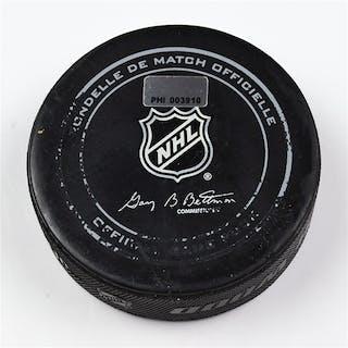 Philadelphia Flyers Game Used Puck * February 6, 2014 vs the Colorado