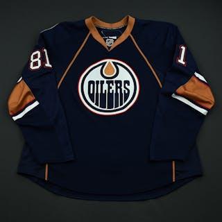 Taylor, Jake Navy Set 1 - Game-Issued (GI) Edmonton Oilers 2008-09 #81 Size: 58