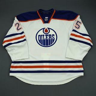Sutton, Andy White Retro Set 1 - Game-Issued (GI) Edmonton Oilers