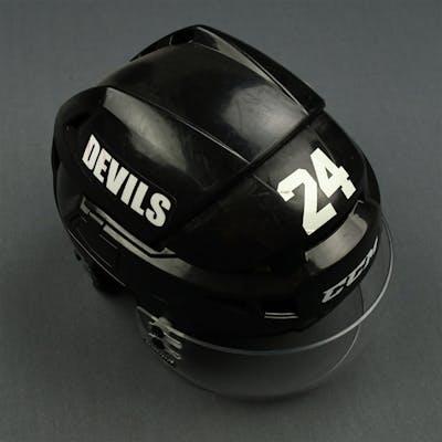 Salvador, Bryce Black CCM Helmet with Bauer Shield New Jersey Devils