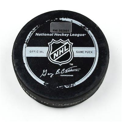 Philadelphia Flyers Game Used Puck * December 4, 2008 vs. New Jersey