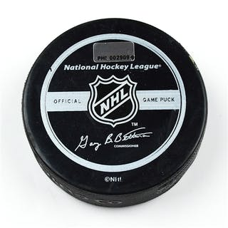 Philadelphia Flyers Game Used Puck * December 9, 2008 vs. New York