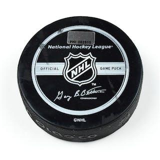 Philadelphia Flyers Game Used Puck * December 9, 2008 vs. New York