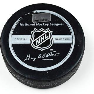 Philadelphia Flyers Game Used Puck * December 13, 2008 vs. Pittsburgh