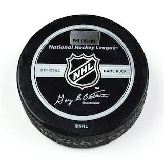 Philadelphia Flyers Game Used Puck * December 23, 2008 vs. Ottawa