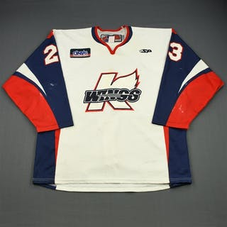 Ellington, Taylor White Set 1 Kalamazoo Wings 2011-12 #23 Size: 56