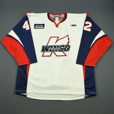 Kivisto, John White Set 1 Kalamazoo Wings 2011-12 #42 Size: 56