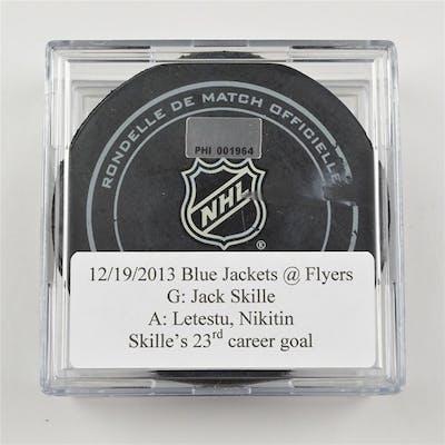 Skille, Jack * December 19, 2013 vs the Philadelphia Flyers (Flyers