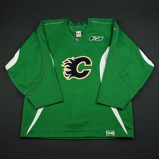 Reebok Green Practice Jersey Calgary Flames 2006-07 # Size: 54