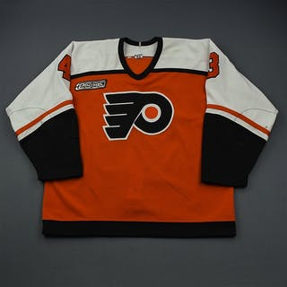 Delmore, Andy * Orange, NHL 2000 Patch Philadelphia Flyers 1999-00 #43 Size: 54