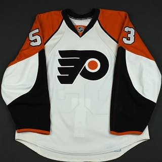 Tolpeko, Denis White Set 2 (RBK 2.0) Philadelphia Flyers 2007-08 #53 Size: 54