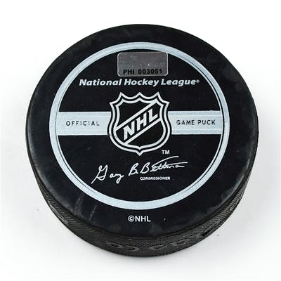 Philadelphia Flyers Game Used Puck * January 13, 2009 vs. Pittsburgh