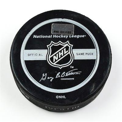 Philadelphia Flyers Game Used Puck * February 14, 2009 vs. New York