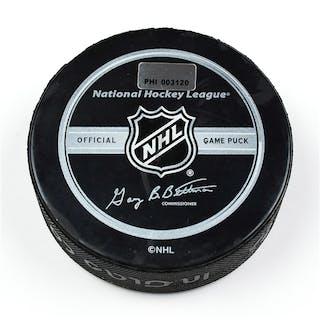 Philadelphia Flyers Game Used Puck * February 19, 2009 vs. Buffalo