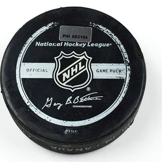 Philadelphia Flyers Game Used Puck * March 7, 2009 vs. Nashville Predators