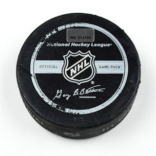Philadelphia Flyers Game Used Puck * March 14, 2009 vs. New York Rangers