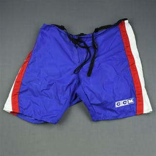 Kasparaitis, Darius Blue CCM Vintage Pants Shell New York Rangers 2003-04 #6