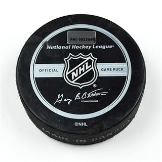 Philadelphia Flyers Game Used Puck * March 23, 2009 vs. New Jersey