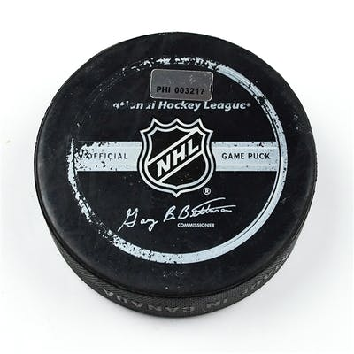 Philadelphia Flyers Game Used Puck * March 26, 2009 vs. Florida Panthers