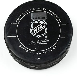 Philadelphia Flyers Game Used Puck March 7, 2010 vs. Toronto Maple