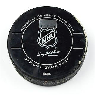 Philadelphia Flyers Game Used Puck January 30, 2010 vs. New York Islanders