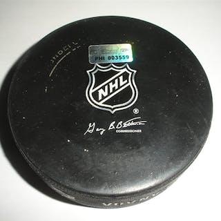 Philadelphia Flyers Game Used Puck April 11, 2010 vs. New York Rangers