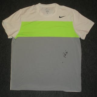 USTA USTA # Sampras, Pete White, Green and Gray Nike Dri-Fit Shirt