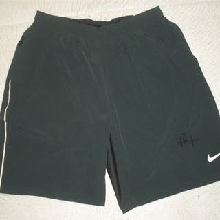 Sampras, Pete Black Nike Dri-Fit Shorts - Autographed - Worn on November