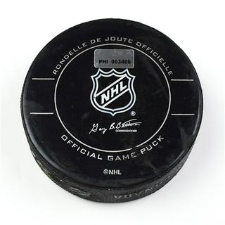 Philadelphia Flyers Game Used Puck December 8, 2009 vs. New York Islanders