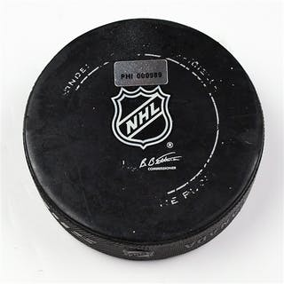 Philadelphia Flyers Game Used Puck * December 8, 2011 vs The Pittsburgh