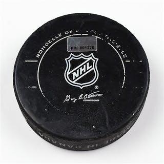 Philadelphia Flyers Game Used Puck * February 7, 2012 vs The New York