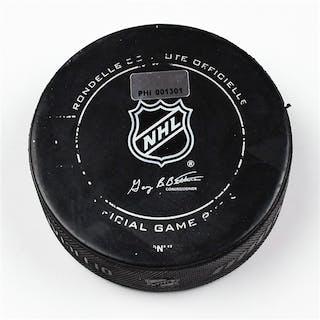 Philadelphia Flyers Game Used Puck * February 9, 2012 vs The Toronto
