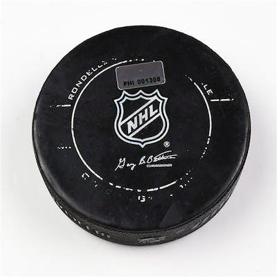 Philadelphia Flyers Game Used Puck * February 16, 2012 vs The Buffalo